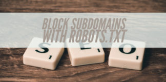 Block Subdomains With Robots.txt