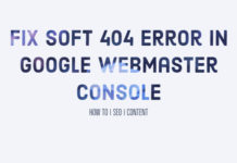 Fix Soft 404 Error in Google Webmaster Console
