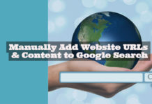 Add Website Content URLs to Google