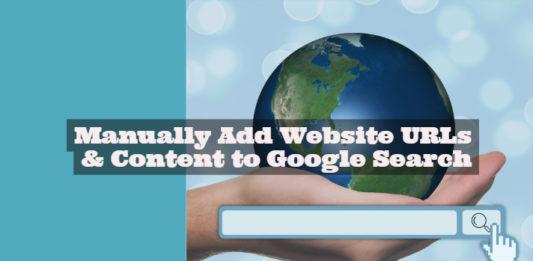 Add Website Content URLs to Google