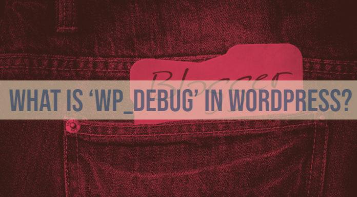 What is 'WP_DEBUG' in WordPress?