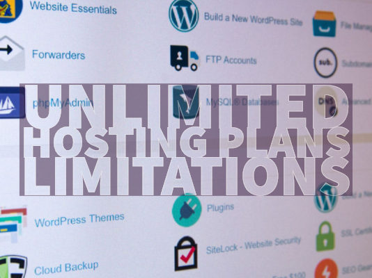 Unlimited Hosting Plans Limitations